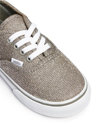 Detail View - Click To Enlarge - Vans - 'Authentic' glitter textile toddler sneakers