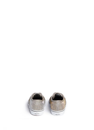 Back View - Click To Enlarge - Vans - 'Authentic' glitter textile toddler sneakers