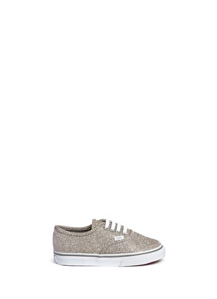 Main View - Click To Enlarge - Vans - 'Authentic' glitter textile toddler sneakers
