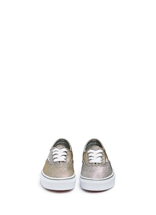 Figure View - Click To Enlarge - Vans - 'Authentic' glitter textile kids sneakers