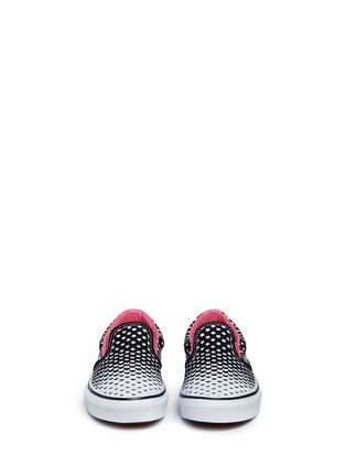 Figure View - Click To Enlarge - Vans - 'Classic' heart and star print canvas kids slip-ons