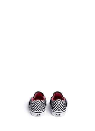 Back View - Click To Enlarge - Vans - 'Classic' heart and star print canvas toddler slip-ons
