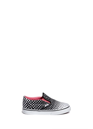 Main View - Click To Enlarge - Vans - 'Classic' heart and star print canvas toddler slip-ons