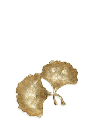 Main View - Click To Enlarge - MICHAEL ARAM - 'New Leaves' Ginkgo Double Compartment Dish
