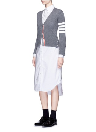 Figure View - Click To Enlarge - THOM BROWNE - Cotton Oxford shirt dress