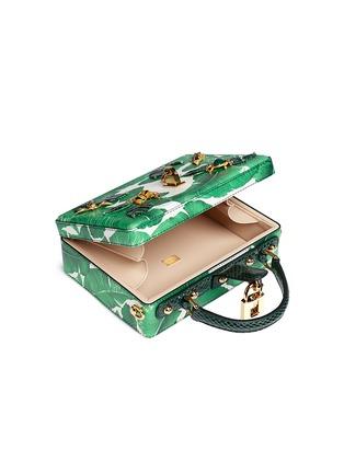 Detail View - Click To Enlarge - - - 'Dolce Box' snakeskin trim embellished leather bag