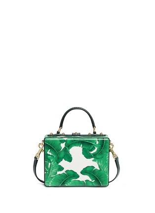 Back View - Click To Enlarge - - - 'Dolce Box' snakeskin trim embellished leather bag