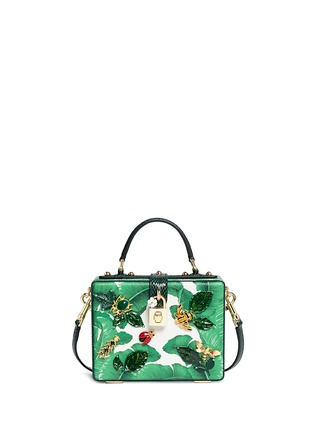 Main View - Click To Enlarge - - - 'Dolce Box' snakeskin trim embellished leather bag