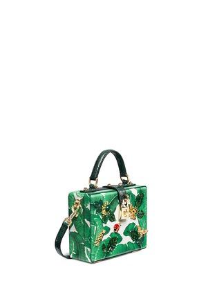 Figure View - Click To Enlarge - - - 'Dolce Box' snakeskin trim embellished leather bag