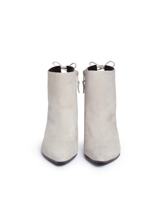 Front View - Click To Enlarge - Stuart Weitzman - 'Grandiose' suede ankle boots