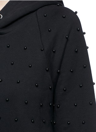 Detail View - Click To Enlarge - GIAMBA - Beaded cotton hoodie