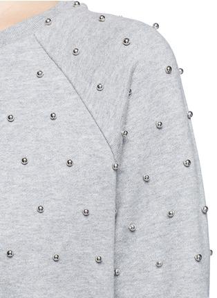 Detail View - Click To Enlarge - Giamba - Beaded raglan sleeve cotton sweatshirt