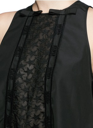 Detail View - Click To Enlarge - Giamba - Star embroidery ribbon bow tunic