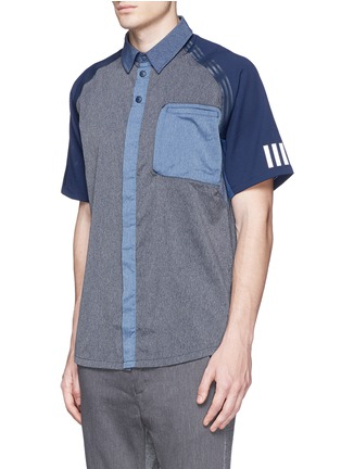Front View - Click To Enlarge - Adidas By White Mountaineering - Patchwork shirt