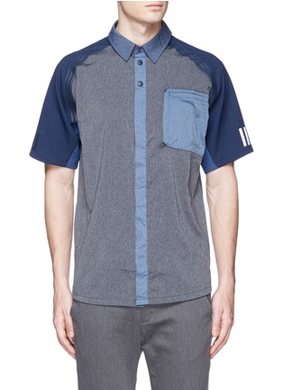 Main View - Click To Enlarge - Adidas By White Mountaineering - Patchwork shirt