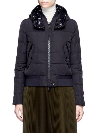 Main View - Click To Enlarge - Moncler - 'Agathe' hooded quilted down jacket