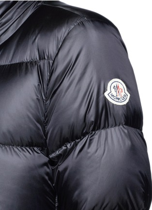 Detail View - Click To Enlarge - Moncler - 'Anet' ruffle hem padded down jacket