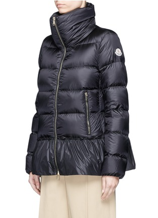 Front View - Click To Enlarge - Moncler - 'Anet' ruffle hem padded down jacket