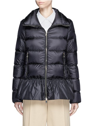 Main View - Click To Enlarge - Moncler - 'Anet' ruffle hem padded down jacket