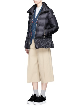 Figure View - Click To Enlarge - Moncler - 'Anet' ruffle hem padded down jacket
