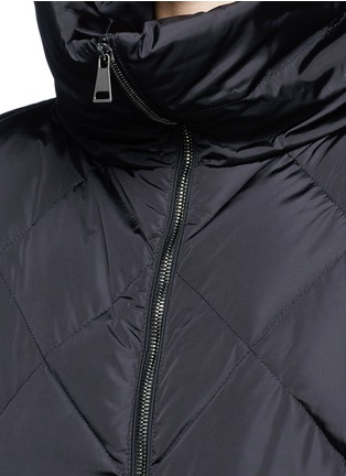 Detail View - Click To Enlarge - Moncler - 'Vouglans' diamond quilted peplum hem down jacket