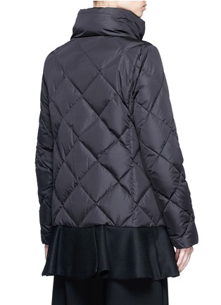 Back View - Click To Enlarge - Moncler - 'Vouglans' diamond quilted peplum hem down jacket