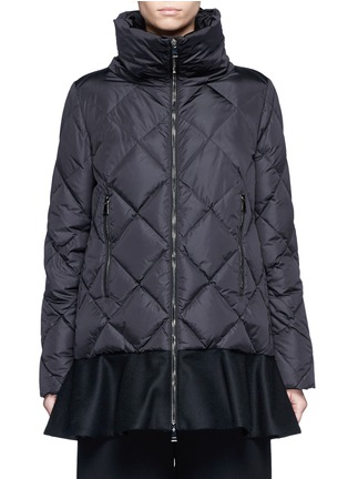 Main View - Click To Enlarge - Moncler - 'Vouglans' diamond quilted peplum hem down jacket