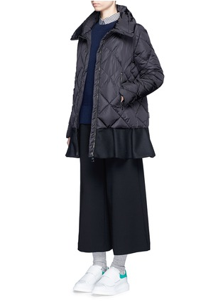 Figure View - Click To Enlarge - Moncler - 'Vouglans' diamond quilted peplum hem down jacket