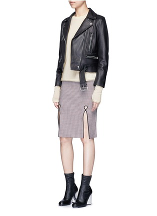 Figure View - Click To Enlarge - Acne Studios - 'Caci' kid mohair trim cotton sweater