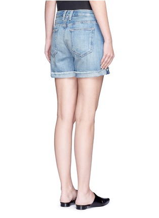 Back View - Click To Enlarge - CURRENT/ELLIOTT - 'The Boyfriend' distressed rolled denim shorts