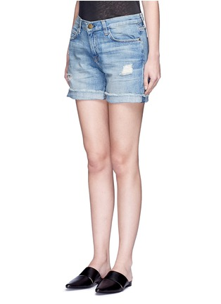 Front View - Click To Enlarge - CURRENT/ELLIOTT - 'The Boyfriend' distressed rolled denim shorts