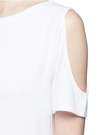 Detail View - Click To Enlarge - rag & bone/JEAN - 'Showoff' cutout shoulder T-shirt