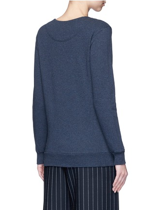 Back View - Click To Enlarge - Stella McCartney - 'Falabella' chain cotton French terry sweater