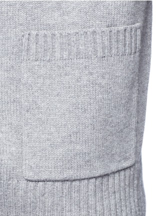 Detail View - Click To Enlarge - VINCE - Drape front wool-cashmere cardigan