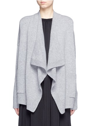 Main View - Click To Enlarge - Vince - Drape front wool-cashmere cardigan