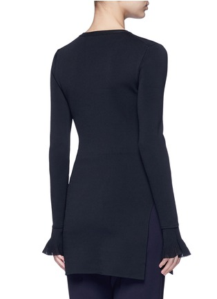Back View - Click To Enlarge - Theory - 'Milania' flare sleeve crepe knit top