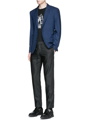 Figure View - Click To Enlarge - ALEXANDER MCQUEEN - Slim fit notch lapel wool blazer