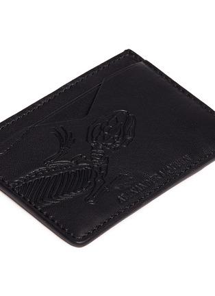 Detail View - Click To Enlarge - Alexander McQueen - Lizard skeleton debossed leather card holder
