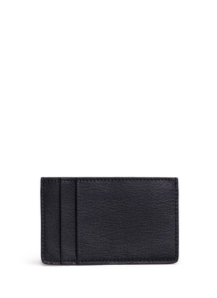 Figure View - Click To Enlarge - ALEXANDER MCQUEEN - Union Jack stud leather cardholder