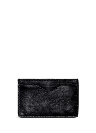 Main View - Click To Enlarge - Alexander McQueen - Stud pixel skull leather cardholder