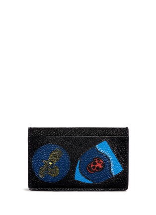 Main View - Click To Enlarge - Alexander McQueen - Skull badge print leather cardholder