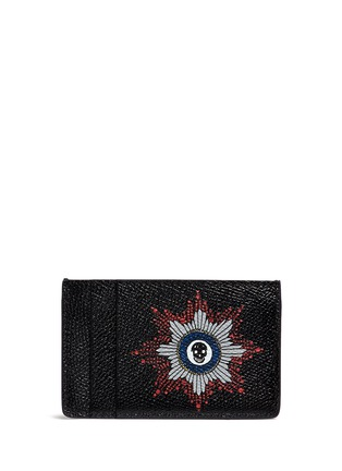 Figure View - Click To Enlarge - Alexander McQueen - Skull badge print leather cardholder