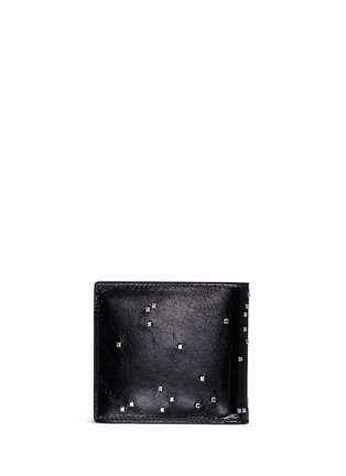 Back View - Click To Enlarge - ALEXANDER MCQUEEN - Stud pixel skull leather bifold wallet