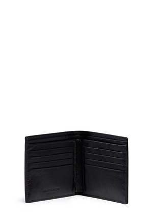 Figure View - Click To Enlarge - ALEXANDER MCQUEEN - Stud pixel skull leather bifold wallet