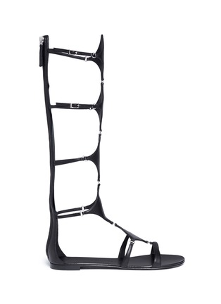 Main View - Click To Enlarge - Giuseppe Zanotti Design - 'Roll' knee high leather gladiator sandals