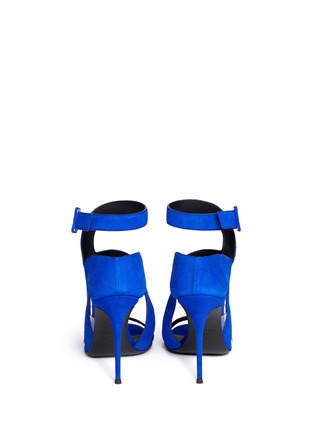 Back View - Click To Enlarge - Giuseppe Zanotti Design - 'Summer' cutout suede sandals