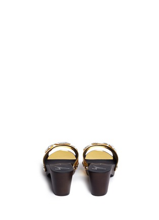 Back View - Click To Enlarge - Giuseppe Zanotti Design - 'Gladis' jewelled mirror leather clog sandals