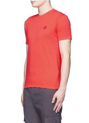 Front View - Click To Enlarge - Stone Island - Logo print cotton T-shirt