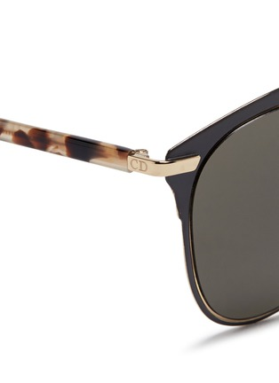 Detail View - Click To Enlarge - Dior - 'Reflected' tortoiseshell acetate temple metal veneer aviator sunglasses