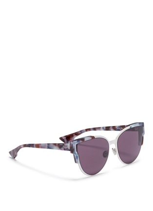 Figure View - Click To Enlarge - Dior - 'Wildly' inset metal frame tortoiseshell acetate sunglasses